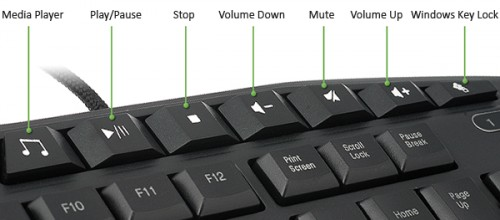 Dedicated multimedia keys