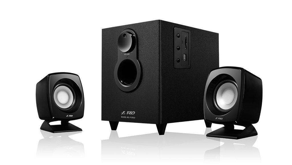 ��������� Speakers 2.1 - F203U - 11W RMS - USB/SD MP3 Playback