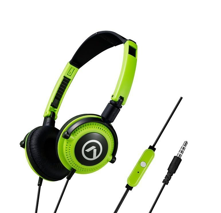 Symphony headphones with mic Black & green AM2005/BKG
