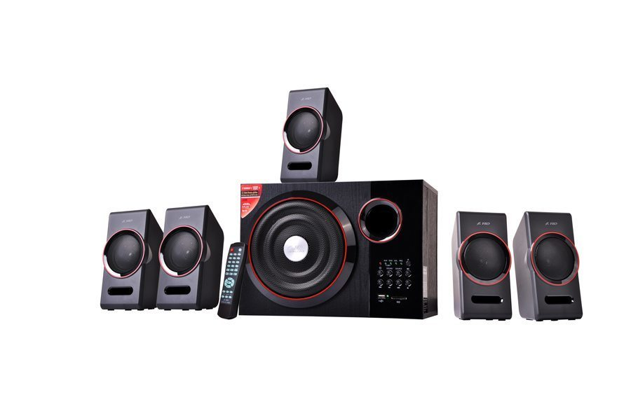 Fenda F&D Speakers 5.1 - F3000U USB/SD/Aux/IR Remote - 79W RMS
