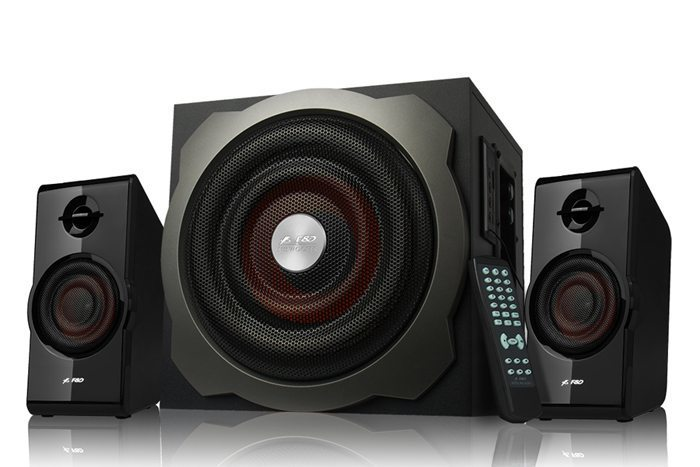 Fenda F&D Speakers 2.1 - A530U Radio/USB MP3/IR Remote - 52W RMS