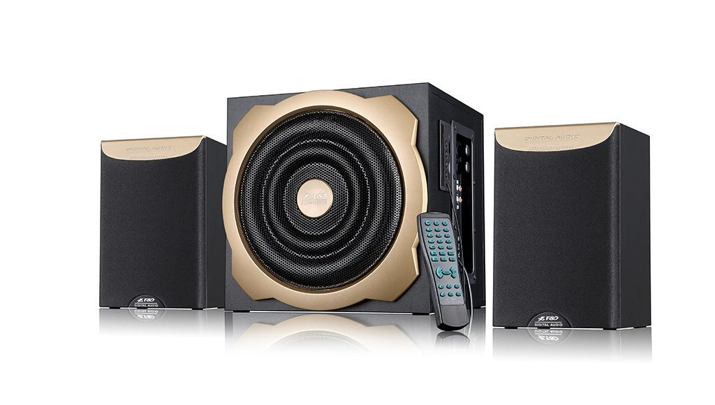 Fenda F&D Speakers 2.1 - A520U USB/SD/FM Radio/IR Remote - 52W RMS