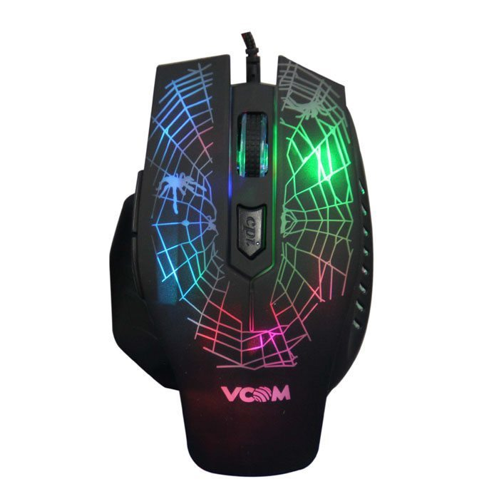 VCom Mouse optical Gaming 2400dpi Color leds - DM418