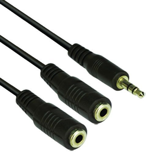 Audio Cable 3.5mm Stereo M / 2x 3.5mm Stereo F - CV203-0.2m