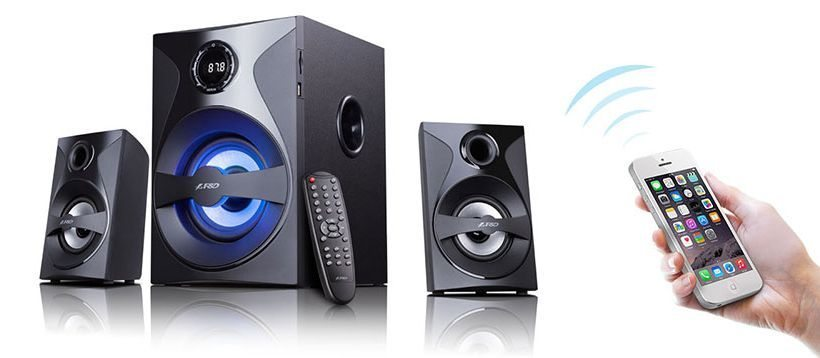Fenda F&D Speakers 2.1 Bluetooth - F380X - 54W - NFC/USB+SD MP3/FM/Remote