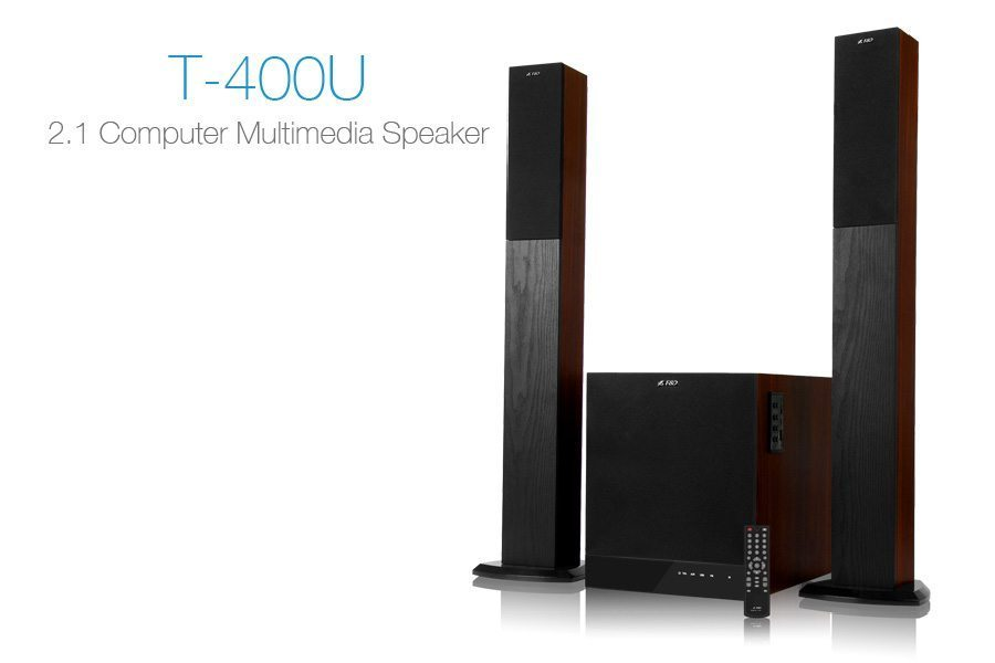 Speakers 2.1 - T-400U - 100W RMS - USB+SD MP3/FM/Remote