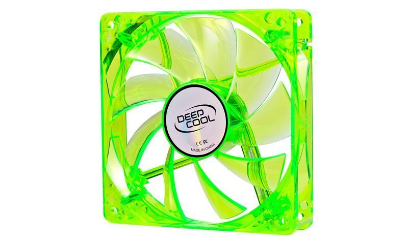 Fan 120mm Green LED Xfan 120U G/B - 1300rpm
