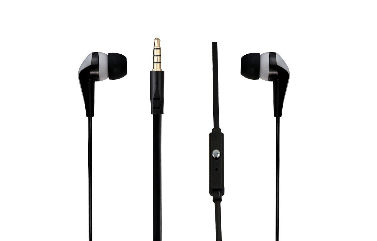 Amplify Walk the Talk- In-earphones with mic Black & silver AM1101/BKG