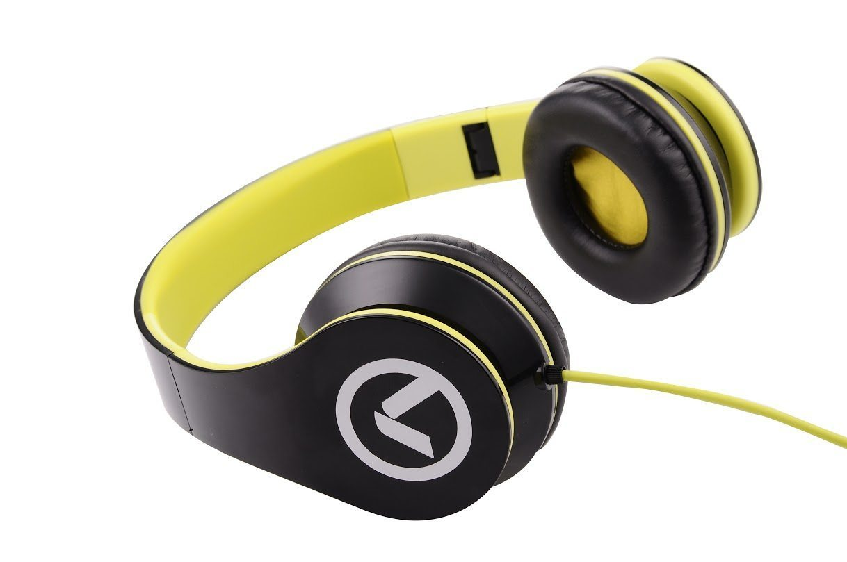 Low Ryders - Headphones Black & green AM2003/BKG