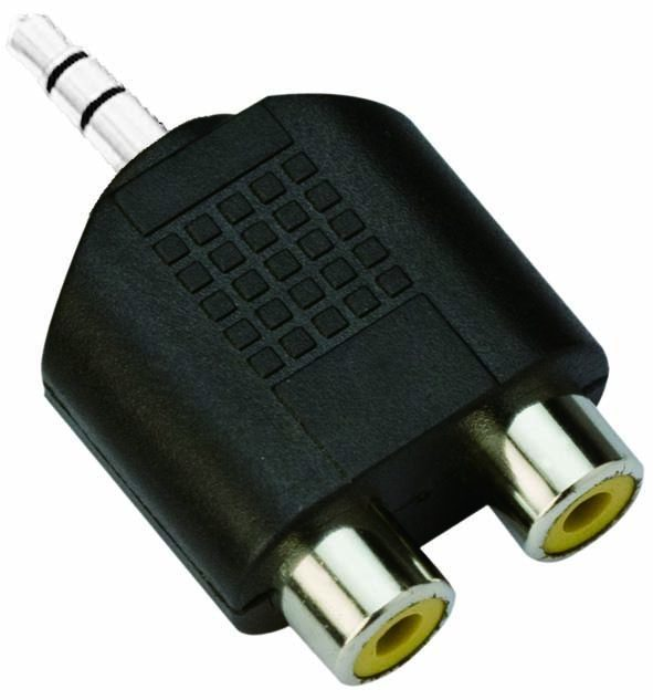 VCom Adapter 3.5mm Stereo M / 2x RCA F - CA501