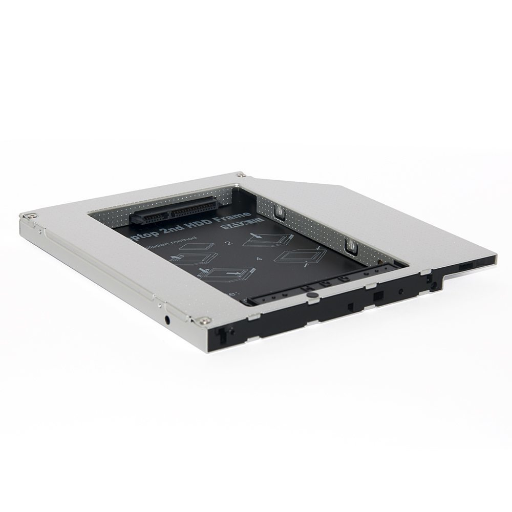 Laptop Caddy 12.7mm SATA/SATA3 2nd hdd/ssd on optical DVD slot