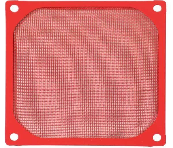 Evercool Fan Filter Metal Red - 120mm