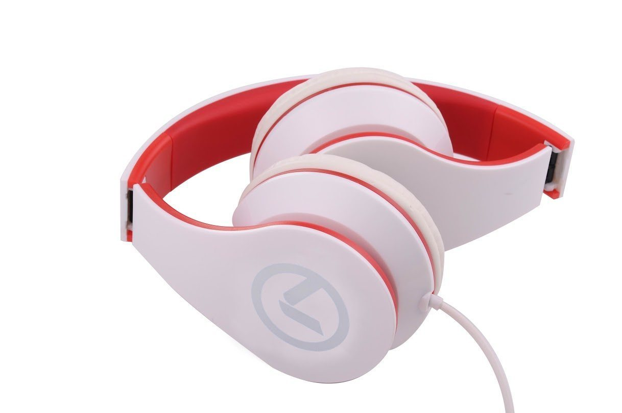 Low Ryders- Headphones White & red AM2003/WR