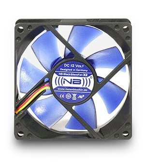 Noiseblocker 80mm NB-BlackSilentFan X2 Rev3.0 + Slics 1800rpm