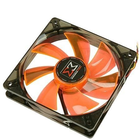Fan 120mm Orange / White LED XLF-F1253