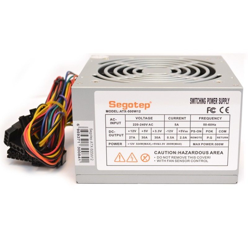 Segotep PSU ATX-500W12 Bulk - 500W/PFC/120mm fan