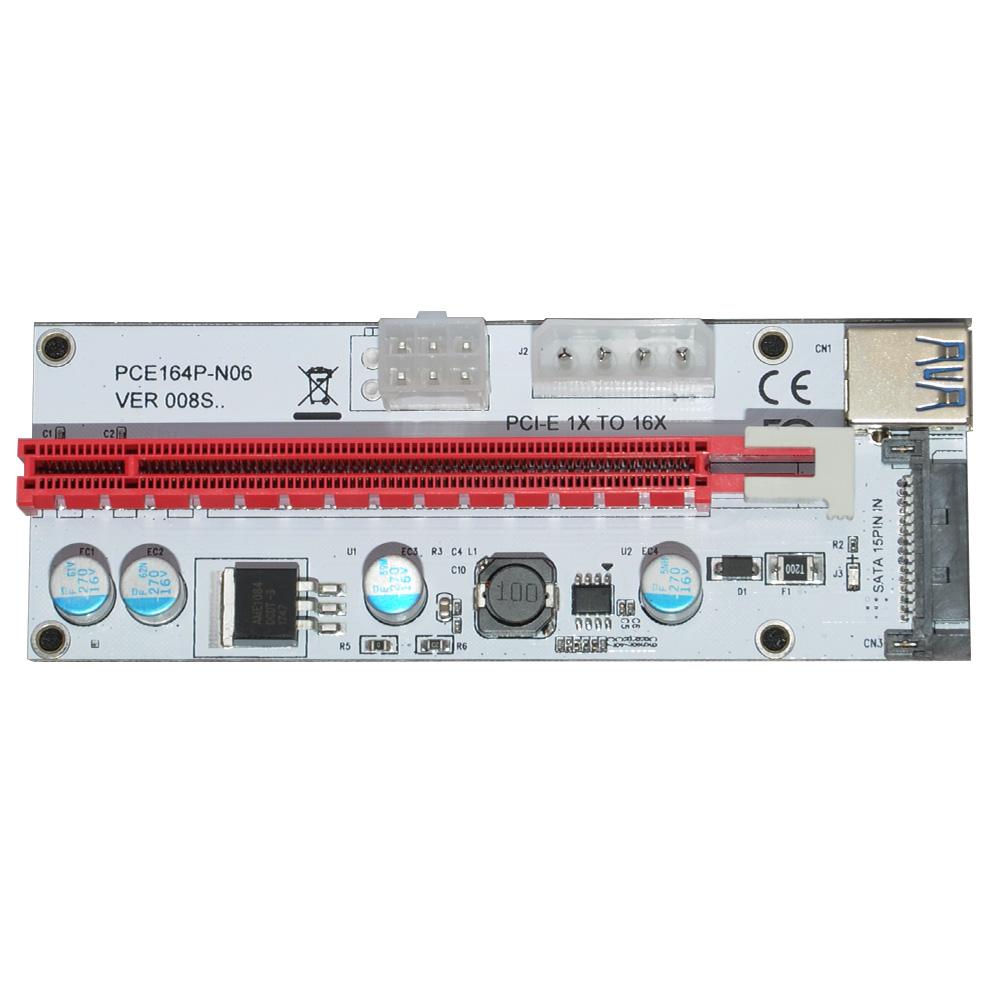 Makki Mining Riser/Extender PCI Express 1x to 16x v 8 - 270uf -  MAKKI-SR138-270 - English   Dekada com